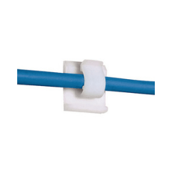 Adhesive-backed cord clip
